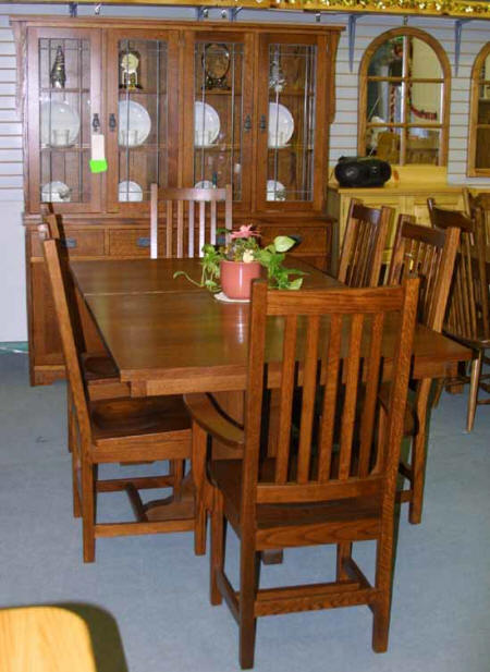 bradford dining room furniture collection | Mennonite dining room table, chairs, buffet and hutch ...