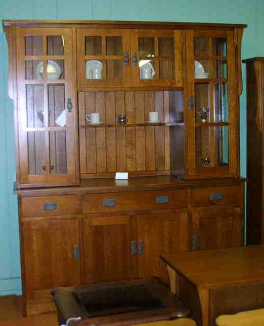 mission corner classic style wood new hutch solid