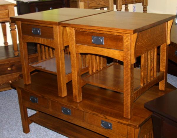 Quarter Sawn Oak Mission Loveseat, Lloydu0027s Mennonite Furniture, Bradford  Ontario Canada.